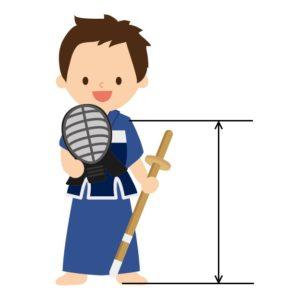 竹刀の長さの合わせ方