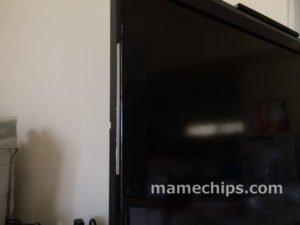 テレビの外周にアルミテープ